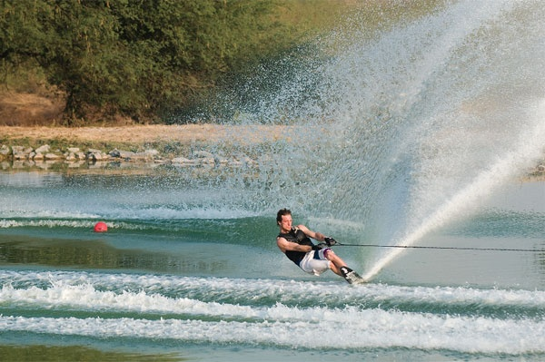 Good advice for water ski wake crossing success.