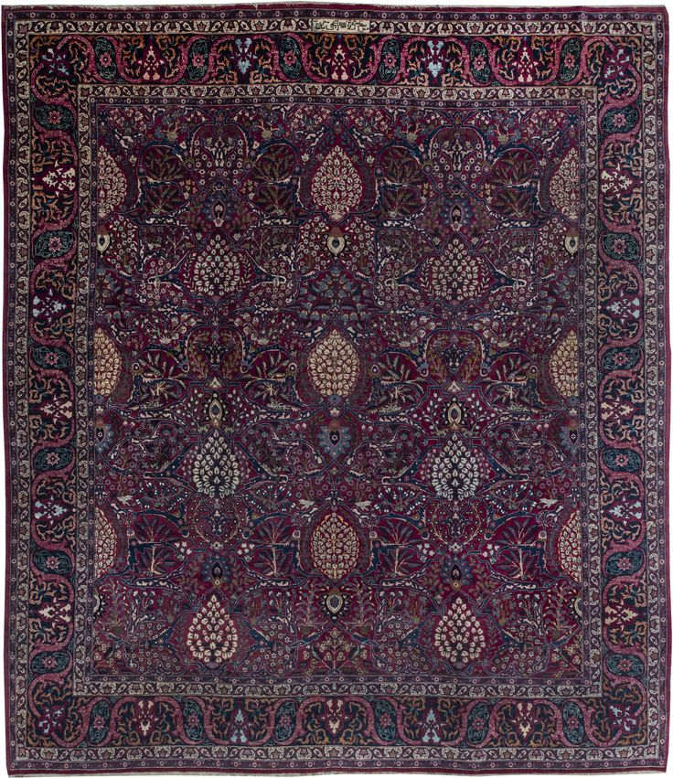 Awesome Persian Rugs: Persian Rug (antique) In Purple Color, Oriental Rug, Oriental