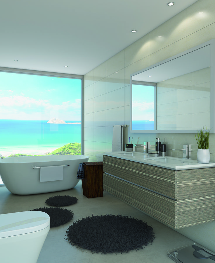1500mm Riviera wallmount with Duragrain Tawny Linewood finish and double bowl Qudra undercounter basins marquis.com.au