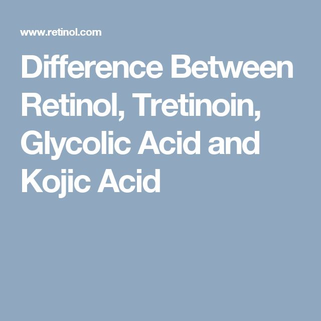 Difference Between Retinol, Tretinoin, Glycolic Acid and Kojic Acid
