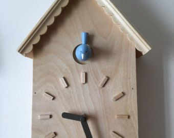 Lovely Extremely Ideas Modern Cuckoo Clock. Modern Cuckoo Clock With White Bird  Wood Original Design The
