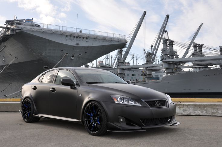 We take a look at this unique matte black wide body Lexus IS350. View full modification details.