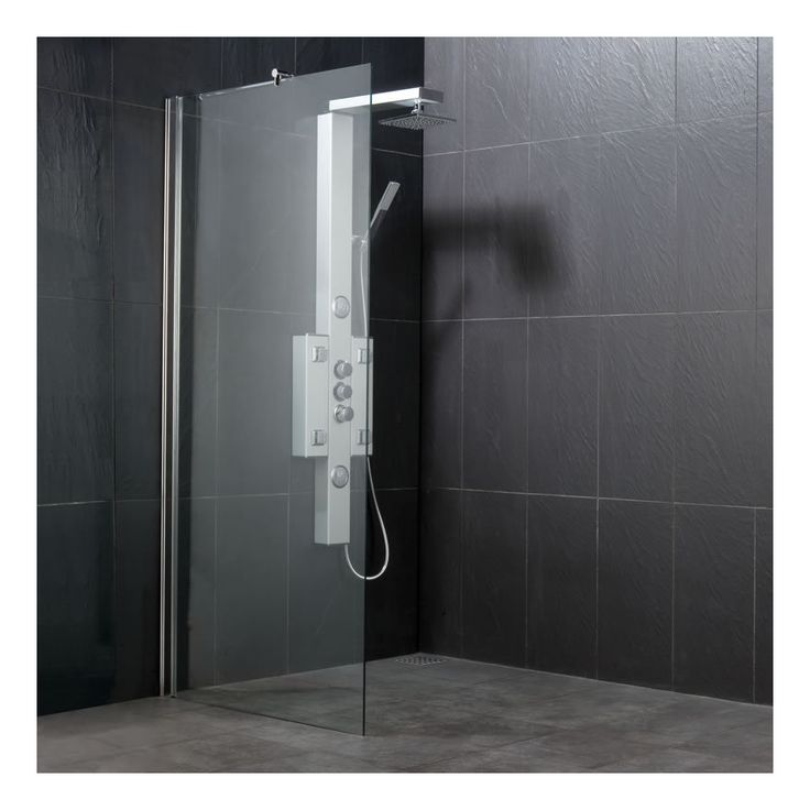 paroi de douche italienne walk in h 1850 mm l 700 1400. Black Bedroom Furniture Sets. Home Design Ideas