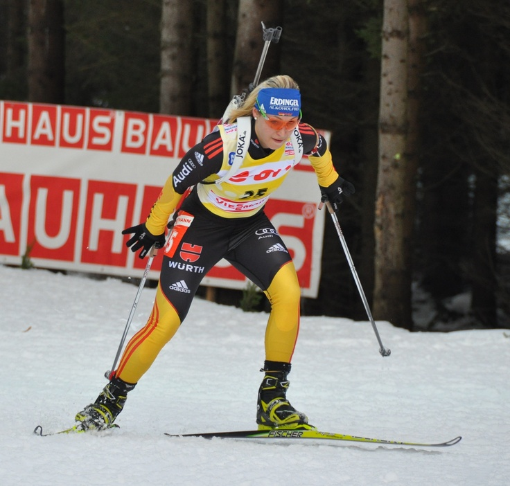 Magdalena Neuner first and last time in Czech republic. IBU World Cup 15km Individual in Nove Mesto.