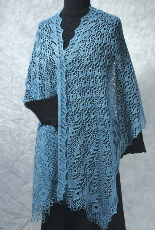 Fiddlesticks Knitting--Dorothy Siemens--Peacock Feathers Stole