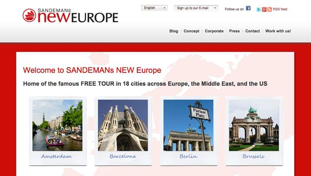 Sandeman's New Europe--Tours are operated by local guides who work on a donation basis