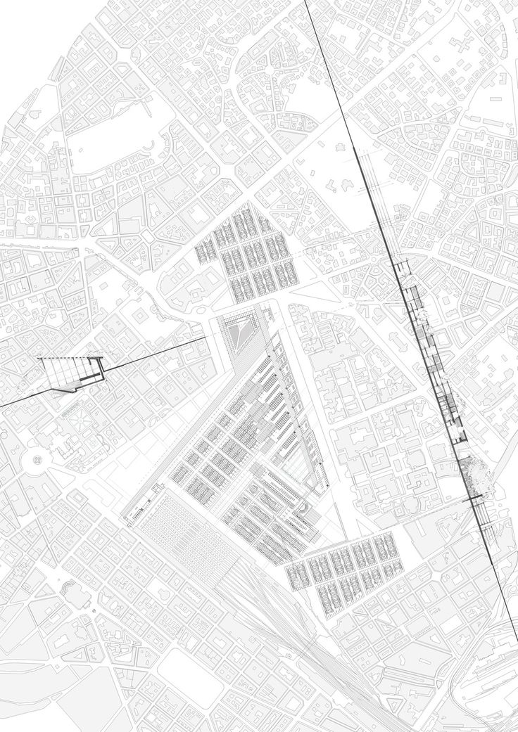 Rome Urbanism Map. Site. Section. Intervention. Train Station with City hall, Library and Courthouse. Architecture. From nicolettakyvernitis.com