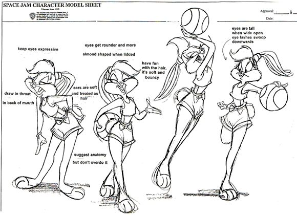 lola space jam concept art she seems so much more dynamic than in the - Space Jam Monstars Coloring Pages