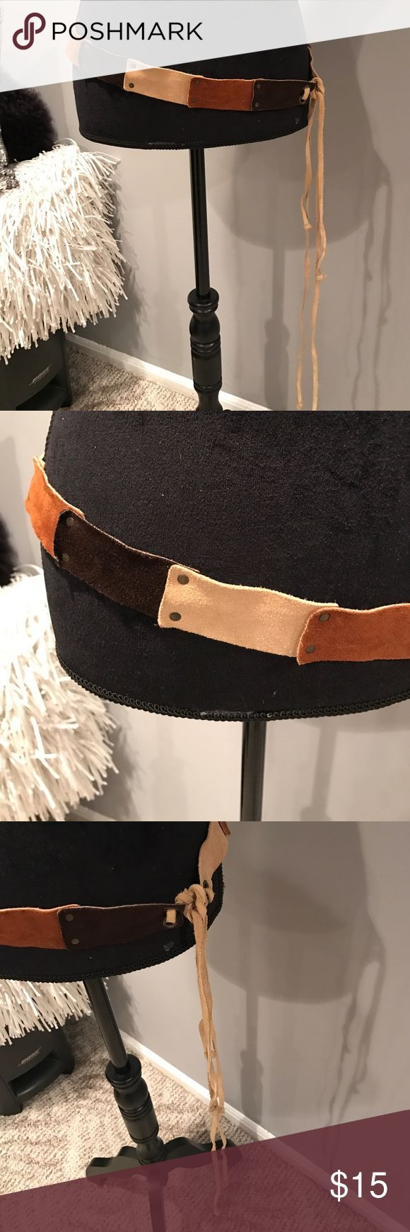 Multi brown suede tie belt Belt part measures 35 inches. Gently worn. A few blue marks on the tie part maybe from my jeans but not noticeable unless looking for it. I I inspect every measure of anything I post! So I just noticed! Accessories Belts