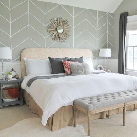 Master Bedroom Peek Bhg Feature Grey Walls Wall Ideas And Accent Walls