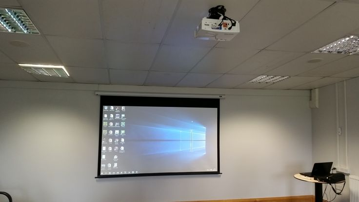 "Audio Visual Installation Services Leeds with the install of two Benq Projectors, Apart Audio Ceiling Speakers and two Commercial LG 43"" TV screens"