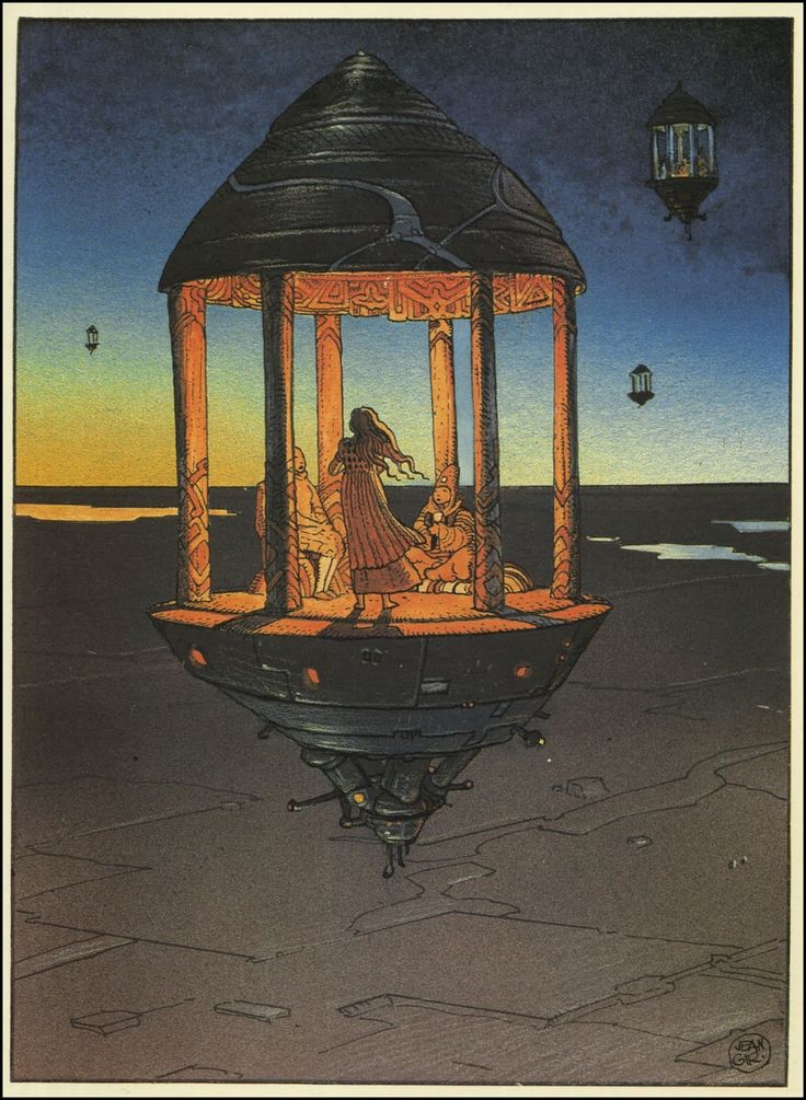 Illustration by Moebius[More Illustrations | Moebius on Rhade-Zapan]