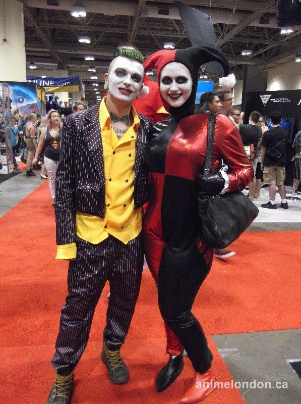 Joker and HarleyQuin #FanExpo2015 #cosplay