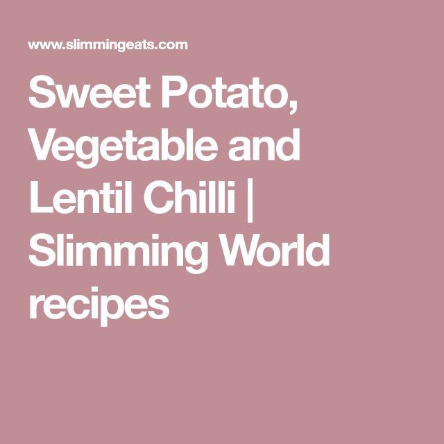Sweet Potato, Vegetable and Lentil Chilli | Slimming World recipes