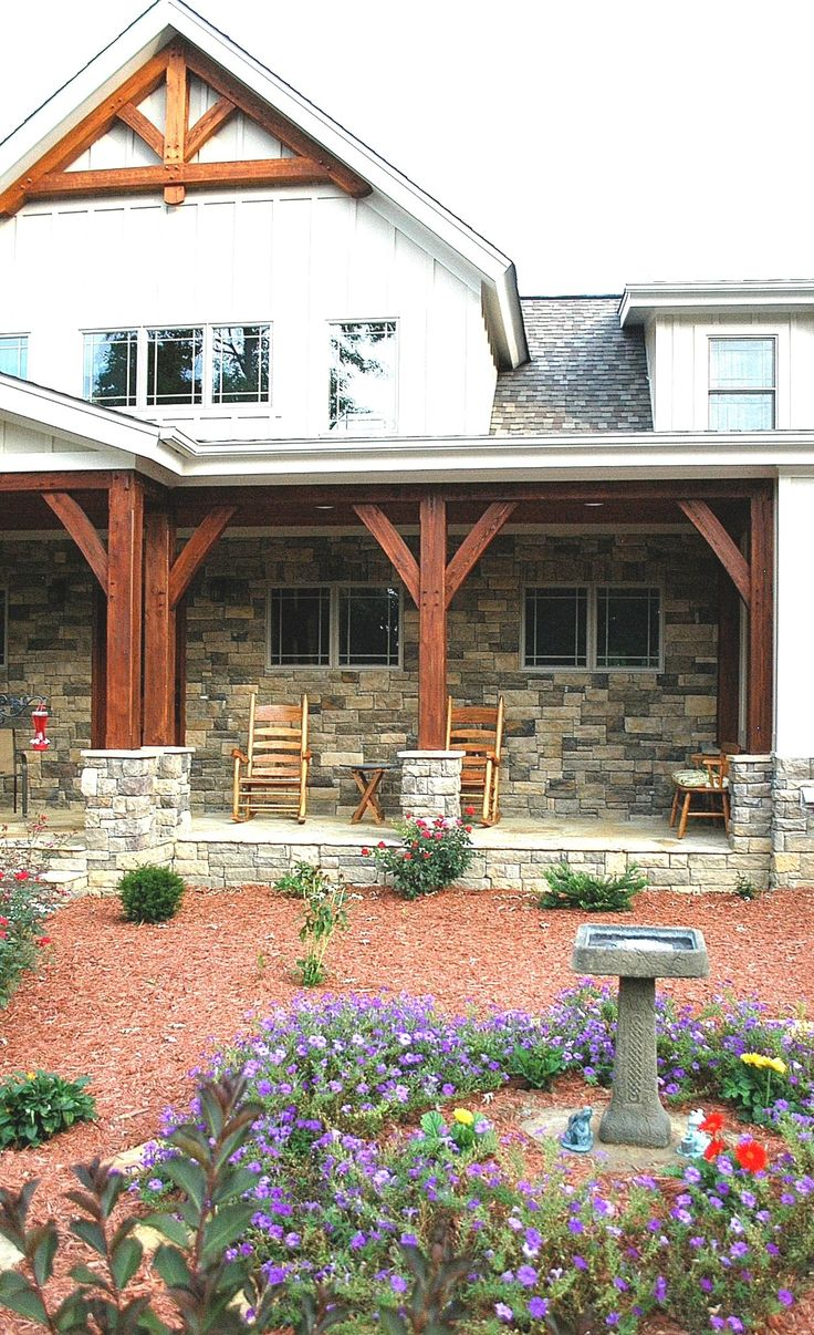 Vintage timber frame barn addition farmhouse exterior burlington - Timber Frame Porch Heavy Timbered Porch Homestead Timber Frames Crossville Tennessee Exterior Makeoverfarmhouse