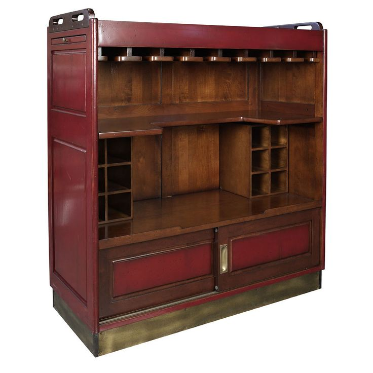victoria portable home bar, red