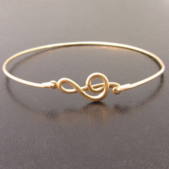Silver G-Clef Bracelet Music Bracelet Music by FrostedWillow