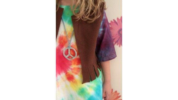 Disfraces para niñas y niños caseros: disfraz de hippie para carnaval - Juntines.com