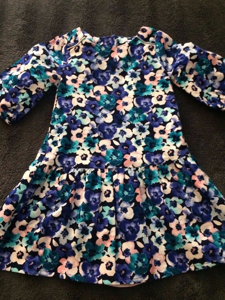 NWT Gymboree Butterfly Garden Toddler Navy Teal Pink Purple Floral Dress Size 2T #Gymboree #CasualParty