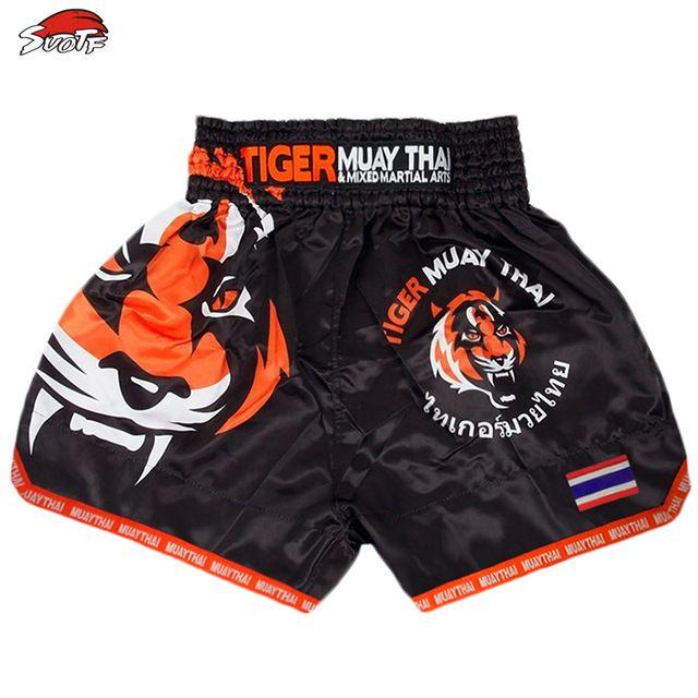 MMA Tiger Muay Thai boxing boxing match Sanda training breathable shorts muay thai clothing kickboxing shorts boxing
