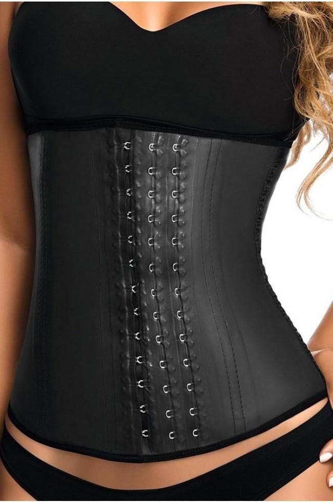 Waist Trainer | Latex (3-Hook) in black - Stunning Body Curves