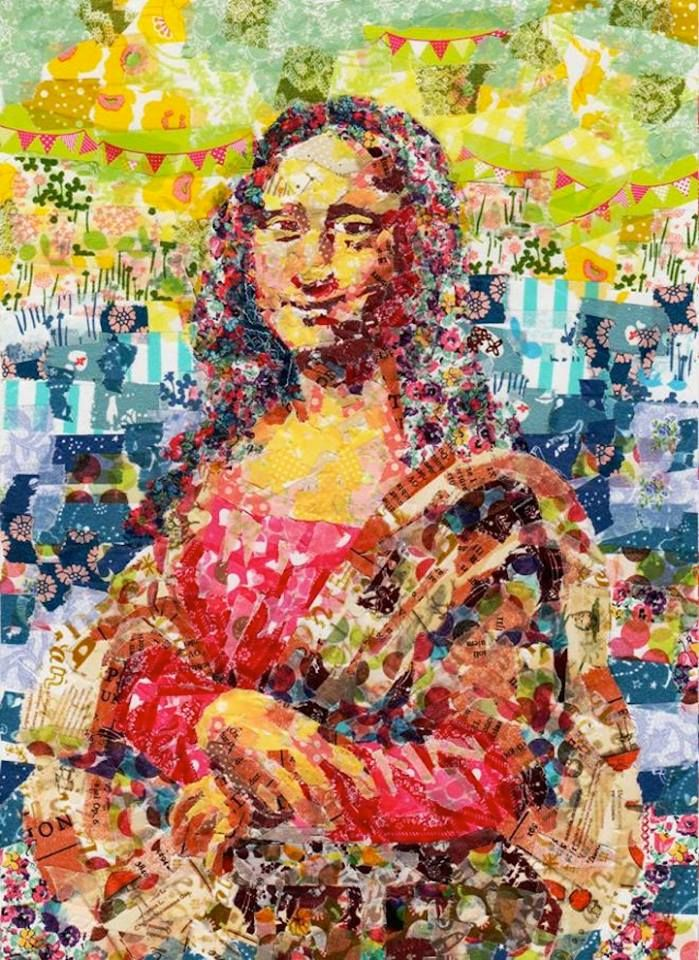 best joconde mona lisa images mona lisa  mona lisa recreated in washi tape decorative masking tape by nasa funahara