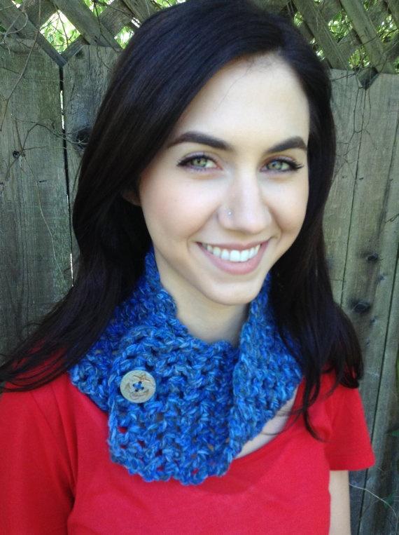 Nautical Cowl by Evelyn Mae Crochet on Etsy