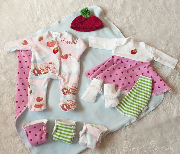 Sweet Strawberry Nurture Baby Layette Set