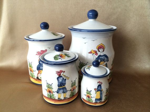 Canister Set, Ceramic, J Willfred Canisters, Portuguese Ceramics ...