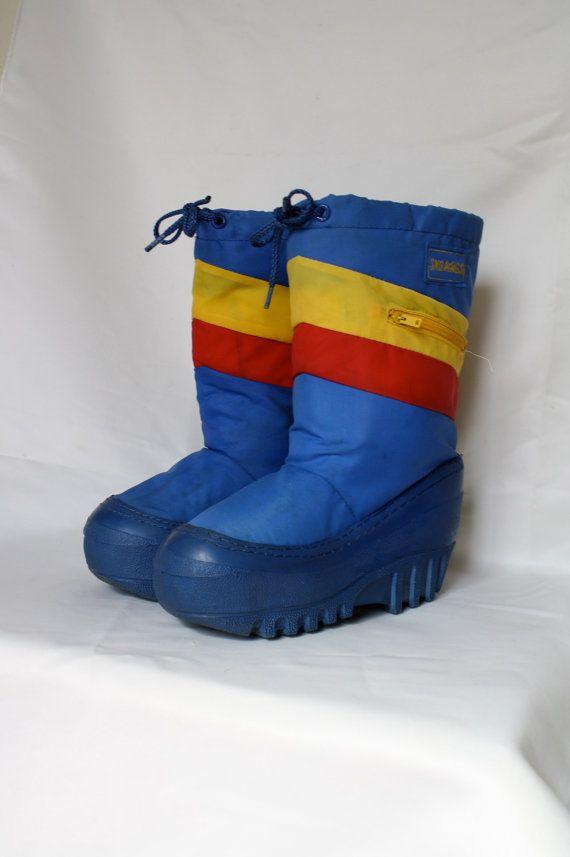 vintage 1970's KIDS moon boot style winter by WindingRoadVintage