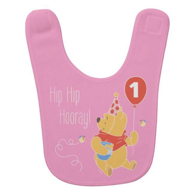 Girl Pink Bib Disney Baby Winnie the Pooh Bib