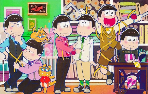 Kara and Ichi are just being somewhat close, Oso is technically stabbing Choro, and Jyushi and Todo are just pure and totally straight :P