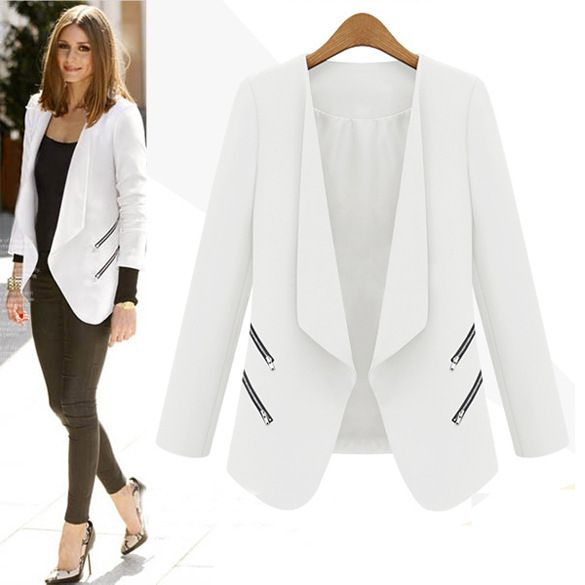 Cheap Blazers, Buy Directly from China Suppliers:    2015 Spring Blazer Feminino 3/4 Sleeve Notched Women Blazer One Button Veste Tailleur Femme Ladies Jacket Suit