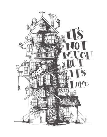 House Quirky Illustration Drawing The Burrow Harry Potter