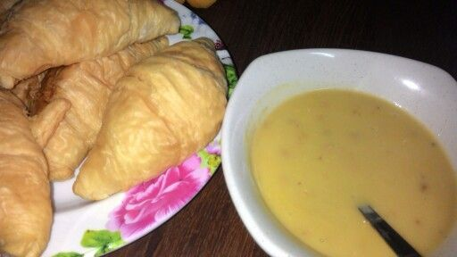 Croissant with chicken Campbell soup: