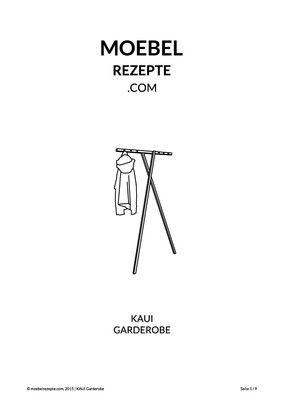 DIY Anleitung, Rezept für eine Garderobe aus Holz via moebelrezepte.com