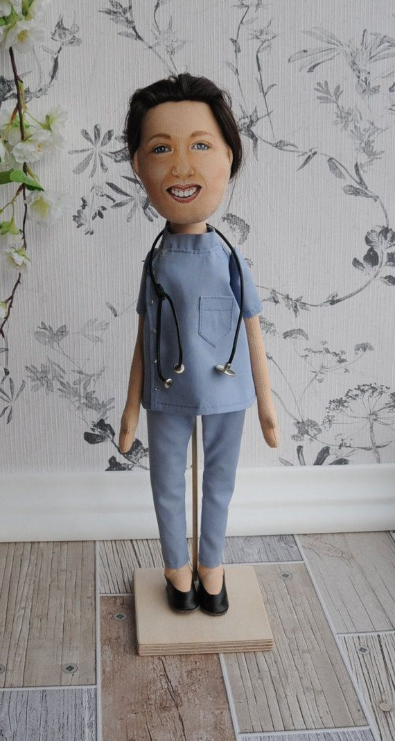Personalized fabric doll selfie cloth doll doctor doll mini me