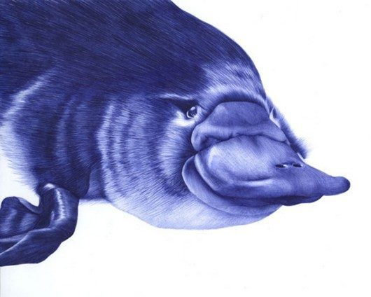 art, awesome, cool, interesting, drawings, Incredible Ballpoint Pen Art by Sarah Esteje