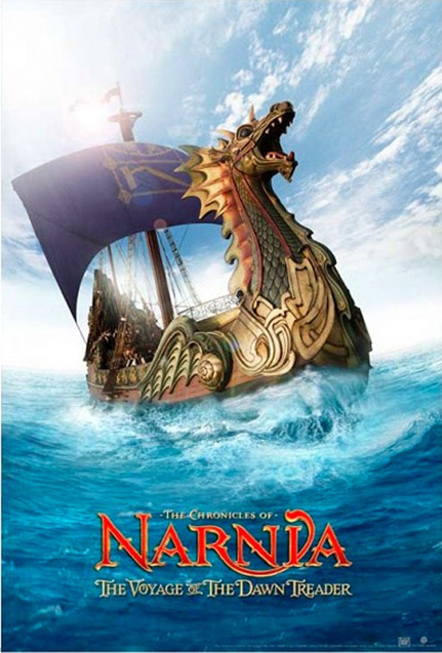 The Chronicles of Narnia: The Voyage of the Dawn Treader (2010): Lucy and Edmund Pevensie return to Narnia with their cousin Eustace where they meet up with Prince Caspian for a trip across the sea aboard the royal ship The Dawn Treader. Along the way they encounter dragons, dwarves, merfolk, and a band of lost warriors before reaching the edge of the world #movie