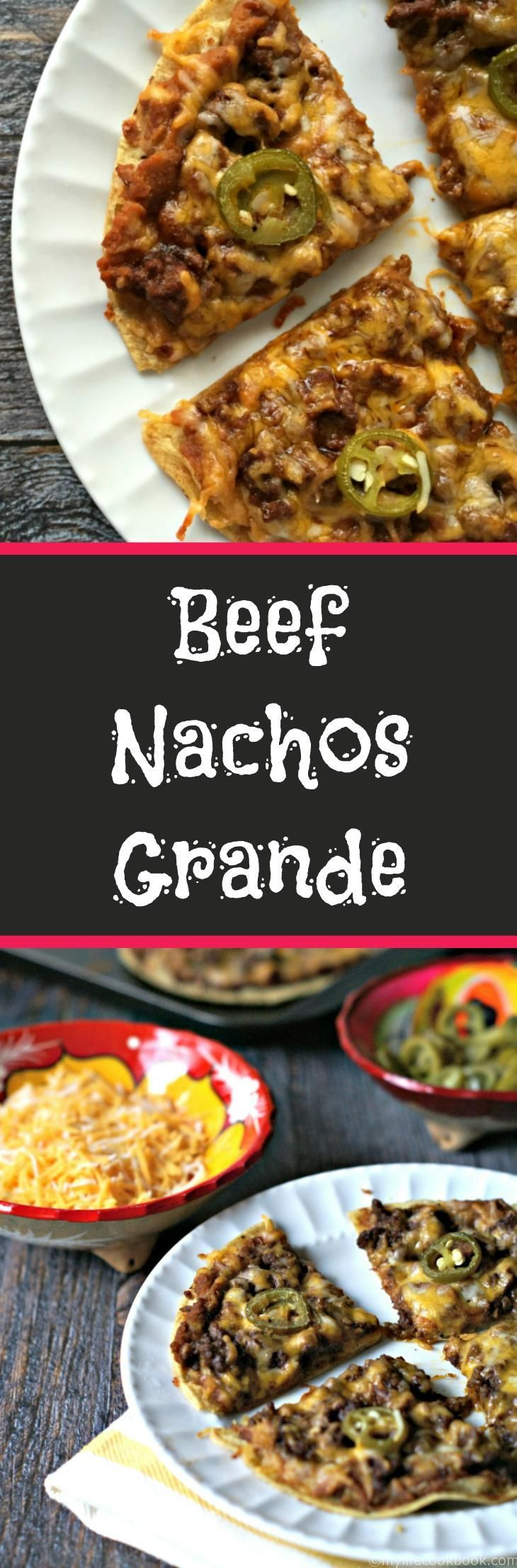 These easy, tasty beef nachos grande are reminiscent of Chi Chis back in the day. They make a delicious snack or appetizer.