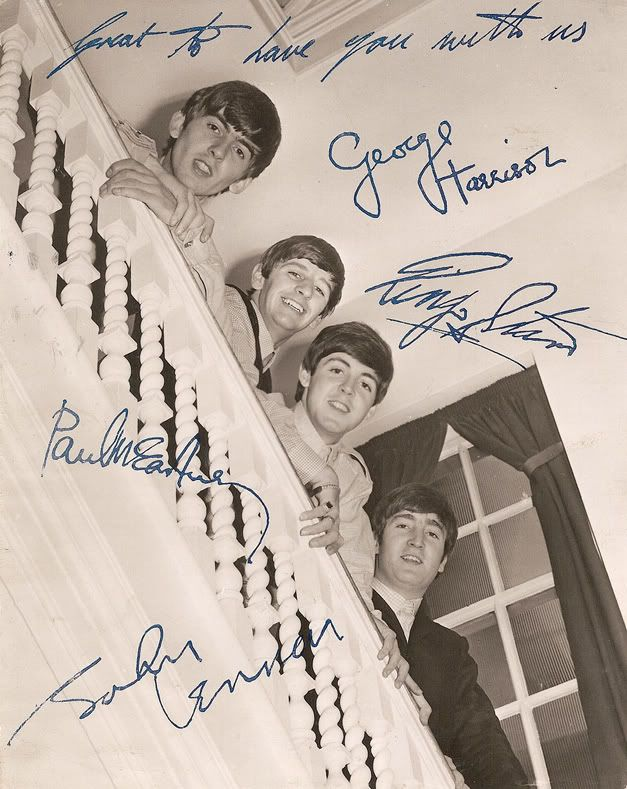 Beatles autographs. How cool would this have been to get?