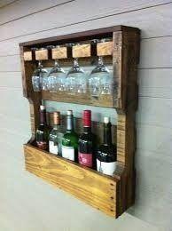 adega de vinhos de madeira e porta taça 50 x 50 x 14cm