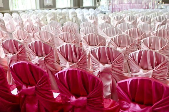 sillas para boda rosas
