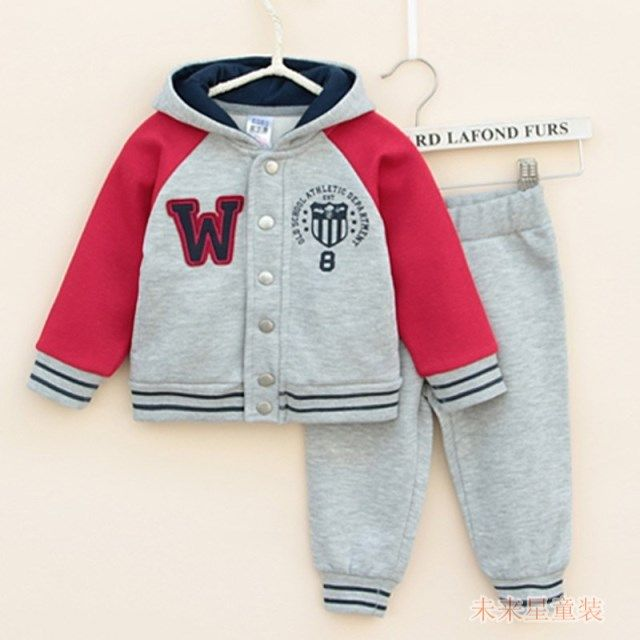 Free shipping baby clothing set children spring/fall suit 100% cotton leisure sports clothing set children clothing set