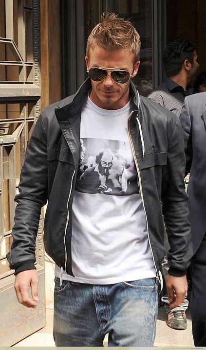 David Beckham casual street style
