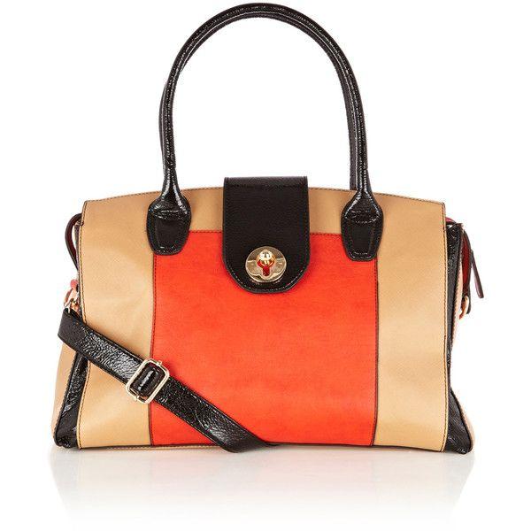 OASIS Soul Panel Colourblock Tote ($46) ❤ liked on Polyvore featuring bags, handbags, tote bags, purses, multi, zip tote bag, crossbody purse, color block tote bags, cross body and oasis handbags