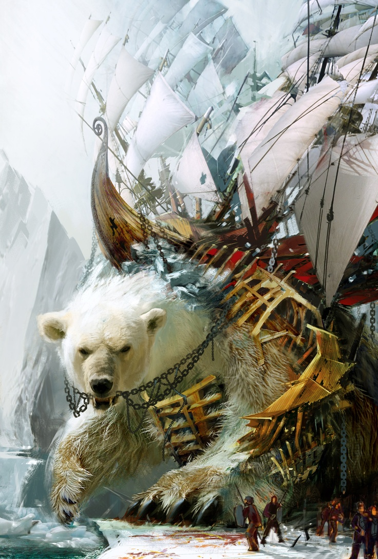 21223 - Guild Wars 2: Giant Polar Bear with a boat on its back