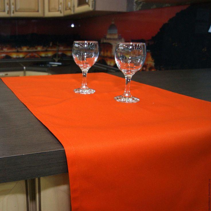 """Купить Дорожка """"Orange"""" - оранжевый, апельсиновый цвет, дорожка на стол, дорожка, сервировка стола"""