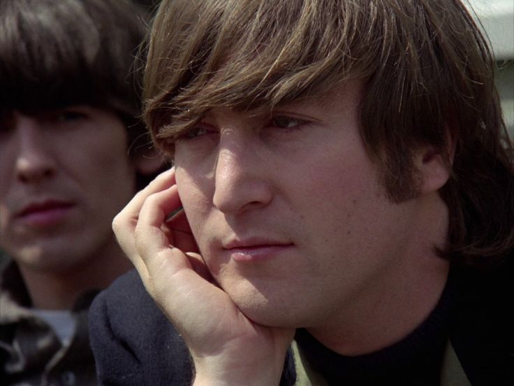 ♡♥John Lennon with George in 1966 'Paperback Writer' video - click on pic to see a larger pic♥♡