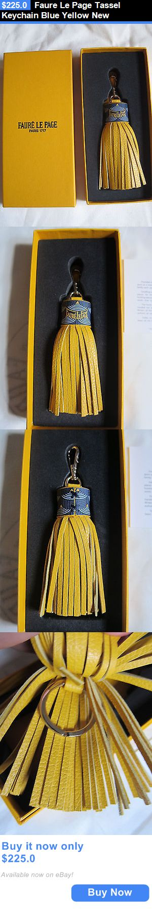 Women Bags And Accessories: Faure Le Page Tassel Keychain Blue Yellow New BUY IT NOW ONLY: $225.0